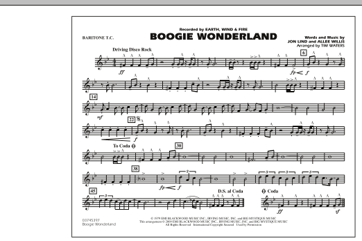 Boogie Wonderland - Baritone T.C. (Marching Band)