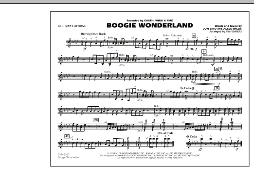 Boogie Wonderland - Bells/Xylophone (Marching Band)