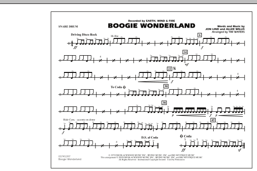 Boogie Wonderland - Snare Drum (Marching Band)