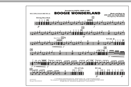 Boogie Wonderland - Multiple Bass Drums (Marching Band)