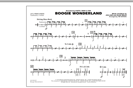 Boogie Wonderland - Aux Percussion (Marching Band)