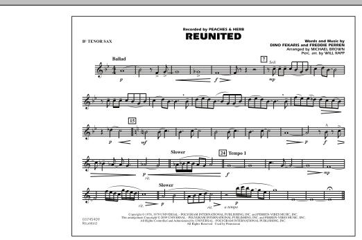 Reunited - Bb Tenor Sax (Marching Band)