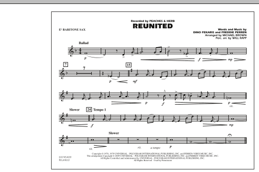 Reunited - Eb Baritone Sax (Marching Band)