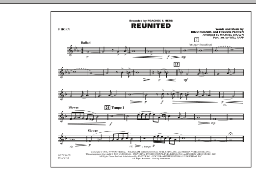 Reunited - F Horn (Marching Band)