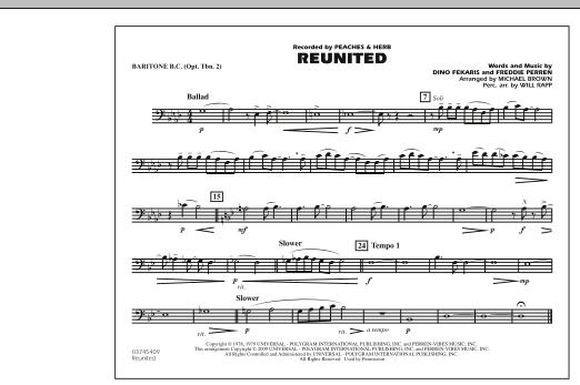 Reunited - Baritone B.C. (Opt. Tbn. 2) (Marching Band)