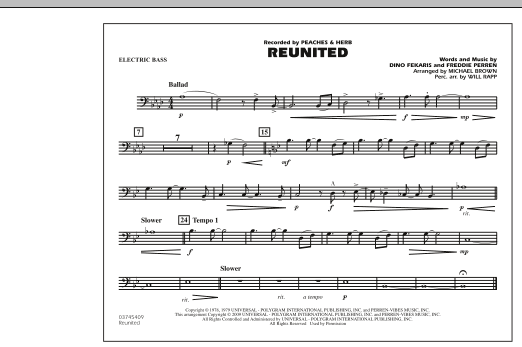 Reunited - Electric Bass (Marching Band)
