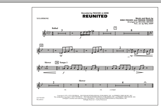 Reunited - Xylophone (Marching Band)
