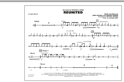 Reunited - Snare Drum (Marching Band)