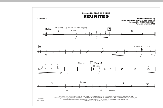 Reunited - Cymbals (Marching Band)