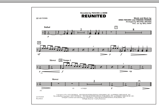 Reunited - Quad Toms (Marching Band)