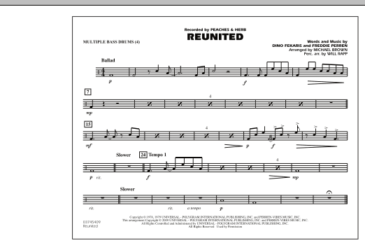 Reunited - Multiple Bass Drums (Marching Band)