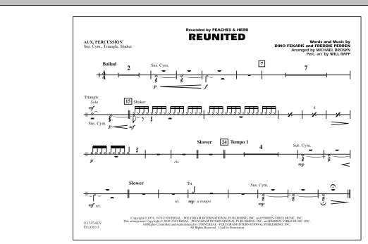 Reunited - Aux Percussion (Marching Band)