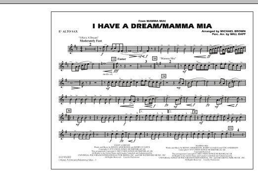 I Have a Dream/Mamma Mia! - Eb Alto Sax (Marching Band)