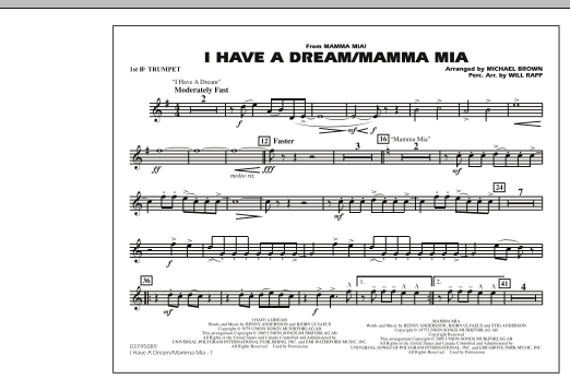 I Have a Dream/Mamma Mia! - 1st Bb Trumpet (Marching Band)