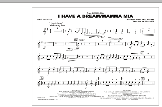 I Have a Dream/Mamma Mia! - 2nd Bb Trumpet (Marching Band)