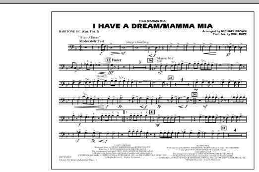 I Have a Dream/Mamma Mia! - Baritone B.C. (Opt. Tbn. 2) (Marching Band)