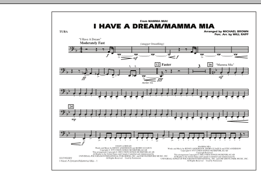 I Have a Dream/Mamma Mia! - Tuba (Marching Band)