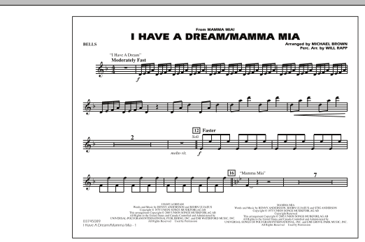 I Have a Dream/Mamma Mia! - Bells (Marching Band)