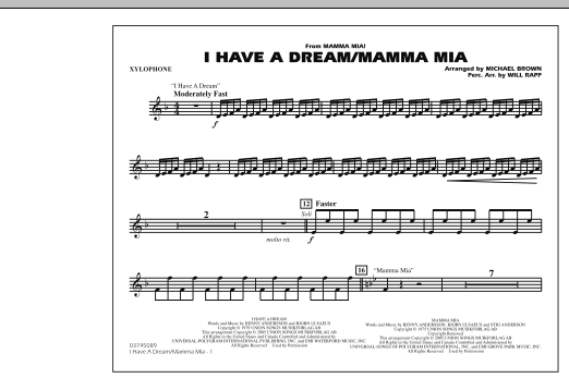 I Have a Dream/Mamma Mia! - Xylophone (Marching Band)