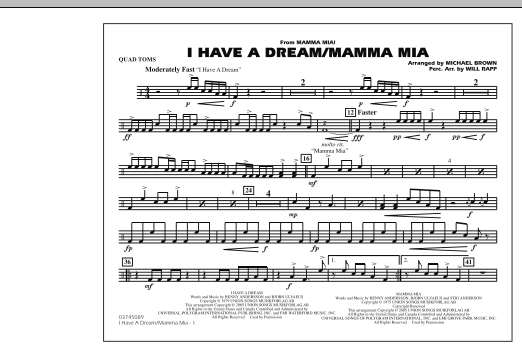 I Have a Dream/Mamma Mia! - Quad Toms (Marching Band)