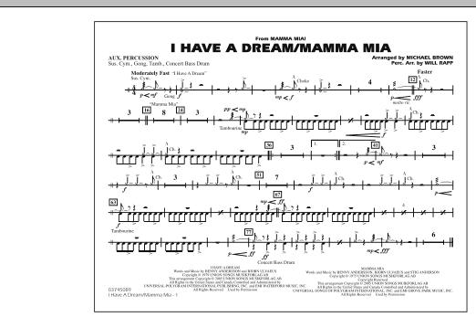 I Have a Dream/Mamma Mia! - Aux Percussion (Marching Band)