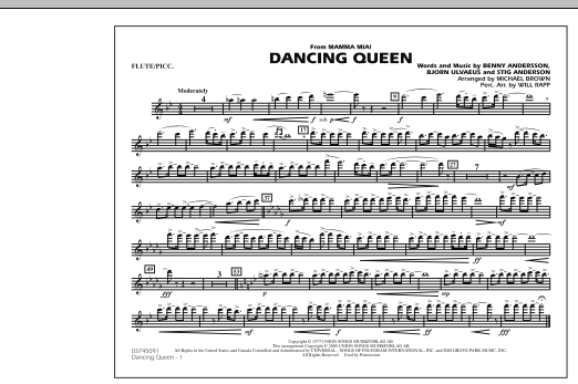 """Dancing Queen (from """"Mamma Mia!"""") - Flute/Piccolo (Marching Band)"""