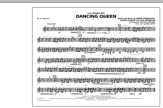 """Dancing Queen (from """"Mamma Mia!"""") - Bb Clarinet (Marching Band)"""