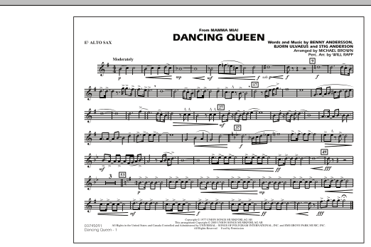"""Dancing Queen (from """"Mamma Mia!"""") - Eb Alto Sax (Marching Band)"""
