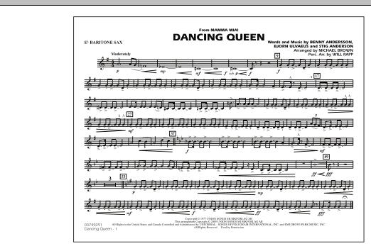 "Dancing Queen (from ""Mamma Mia!"") - Eb Baritone Sax (Marching Band)"
