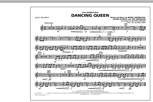 """Dancing Queen (from """"Mamma Mia!"""") - 2nd Bb Trumpet (Marching Band)"""
