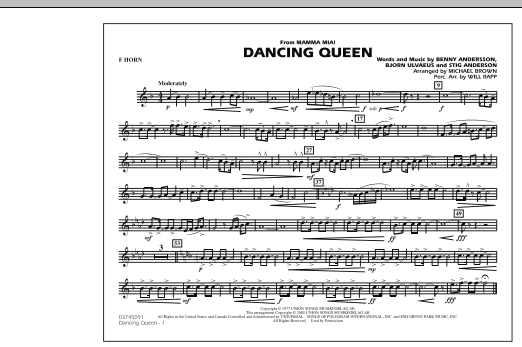 """Dancing Queen (from """"Mamma Mia!"""") - F Horn (Marching Band)"""
