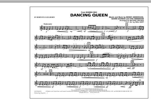 """Dancing Queen (from """"Mamma Mia!"""") - Bb Horn/Flugelhorn (Marching Band)"""