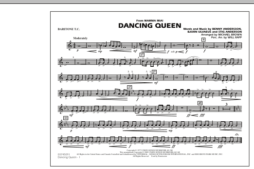 """Dancing Queen (from """"Mamma Mia!"""") - Baritone T.C. (Marching Band)"""