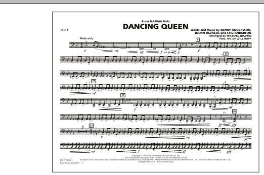 """Dancing Queen (from """"Mamma Mia!"""") - Tuba (Marching Band)"""