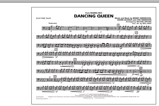 """Dancing Queen (from """"Mamma Mia!"""") - Electric Bass (Marching Band)"""