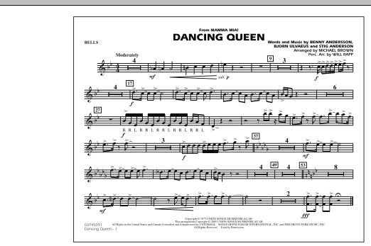 """Dancing Queen (from """"Mamma Mia!"""") - Bells (Marching Band)"""