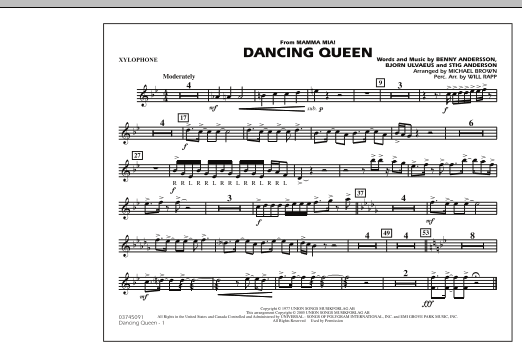 """Dancing Queen (from """"Mamma Mia!"""") - Xylophone (Marching Band)"""