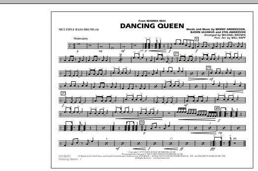 """Dancing Queen (from """"Mamma Mia!"""") - Multiple Bass Drums (Marching Band)"""