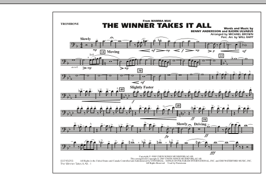 "The Winner Takes It All (from ""Mamma Mia!"") - Trombone (Marching Band)"