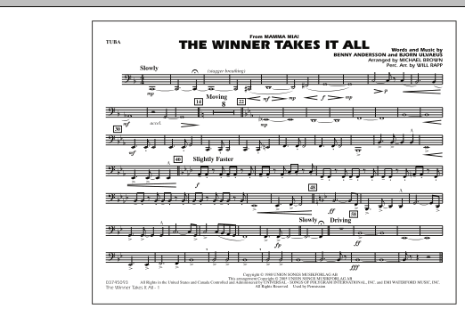 "The Winner Takes It All (from ""Mamma Mia!"") - Tuba (Marching Band)"