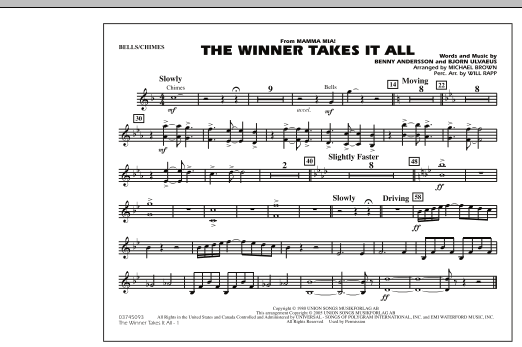 """The Winner Takes It All (from """"Mamma Mia!"""") - Bells (Marching Band)"""