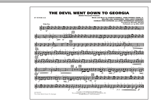 The Devil Went Down to Georgia - Bb Tenor Sax (Marching Band)