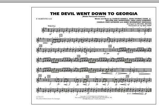The Devil Went Down to Georgia - Eb Baritone Sax (Marching Band)