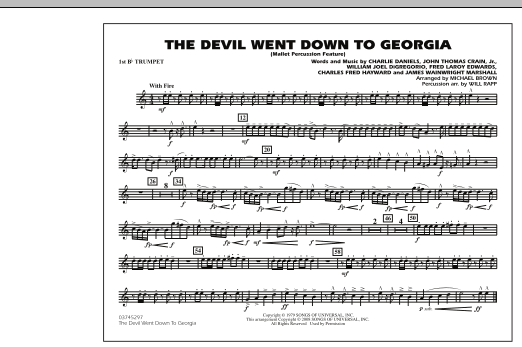 The Devil Went Down to Georgia - 1st Bb Trumpet (Marching Band)