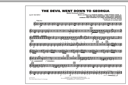 The Devil Went Down to Georgia - 2nd Bb Trumpet (Marching Band)