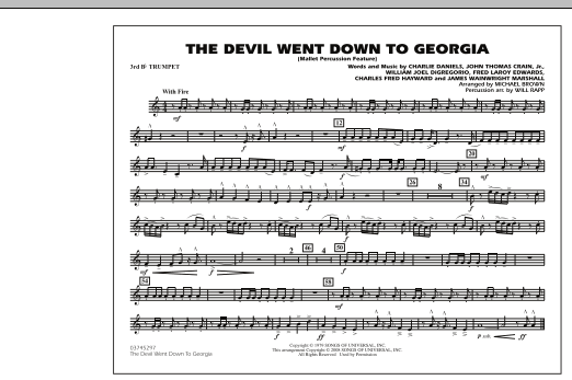 The Devil Went Down to Georgia - 3rd Bb Trumpet (Marching Band)