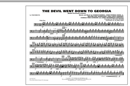 The Devil Went Down to Georgia - 1st Trombone (Marching Band)