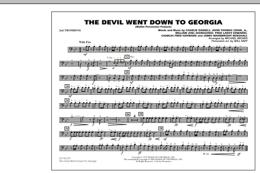 The Devil Went Down to Georgia - 2nd Trombone (Marching Band)