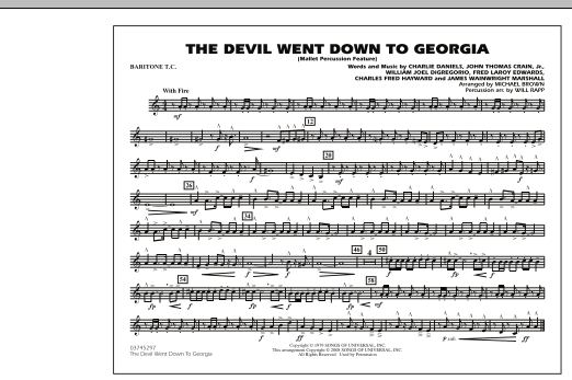 The Devil Went Down to Georgia - Baritone T.C. (Marching Band)