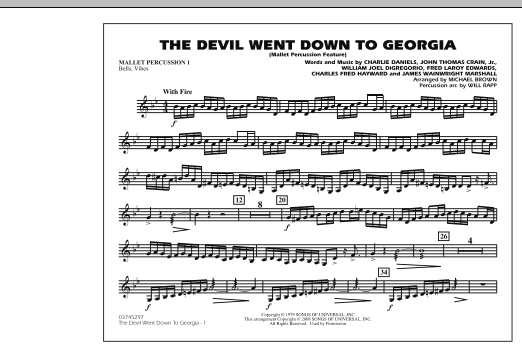 The Devil Went Down to Georgia - Mallet Percussion 1 (Marching Band)